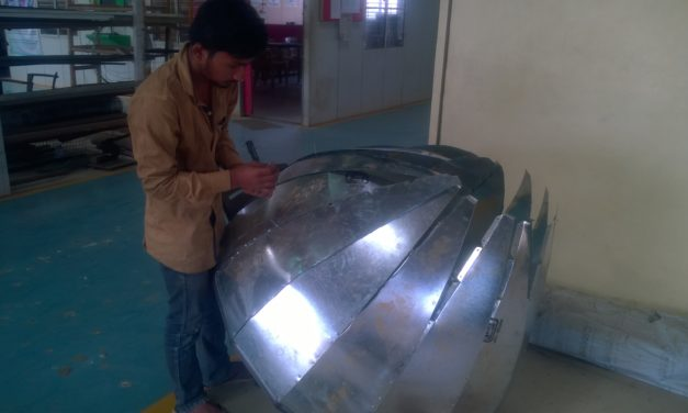 Fabrication of Dome of Dome Dryer v2.1