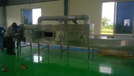 Visit Microwave Dryer Plant and installation